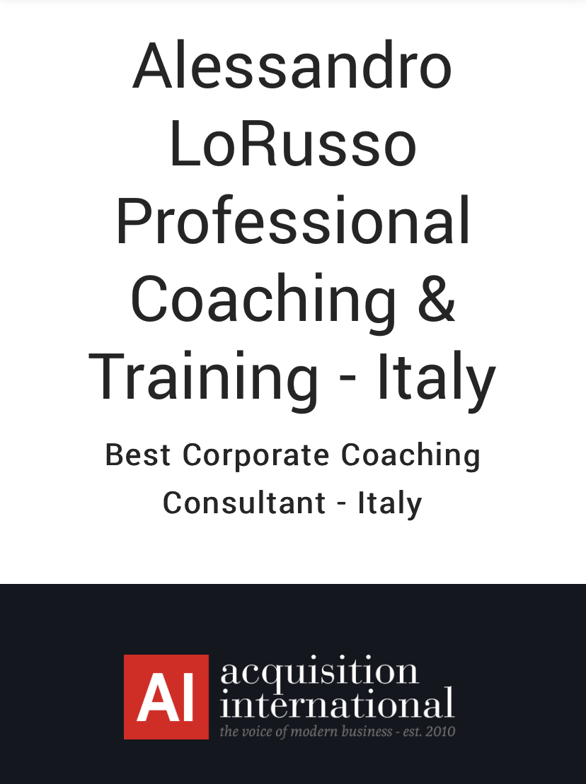 Best Corporate Coaching Consultant italiano